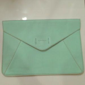 GAP Mint Envelope Clutch NWOT